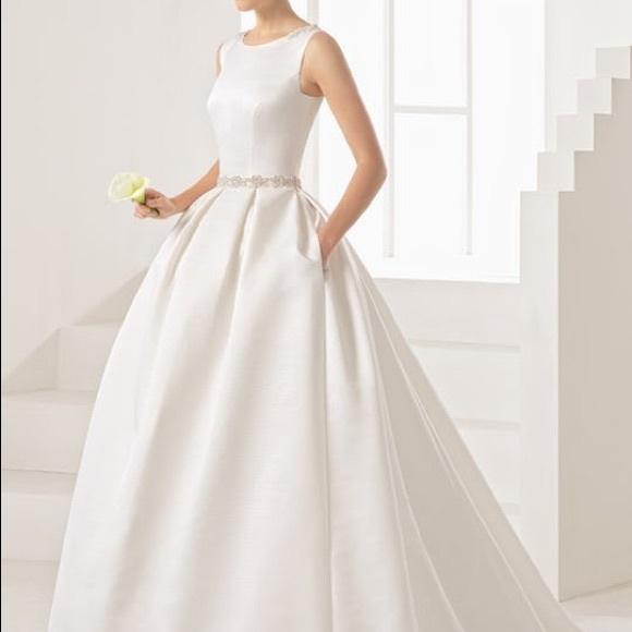 ac5244858d59 Rosa Clara Dresses | Orbe Wedding Dress Mikado Natural | Poshmark
